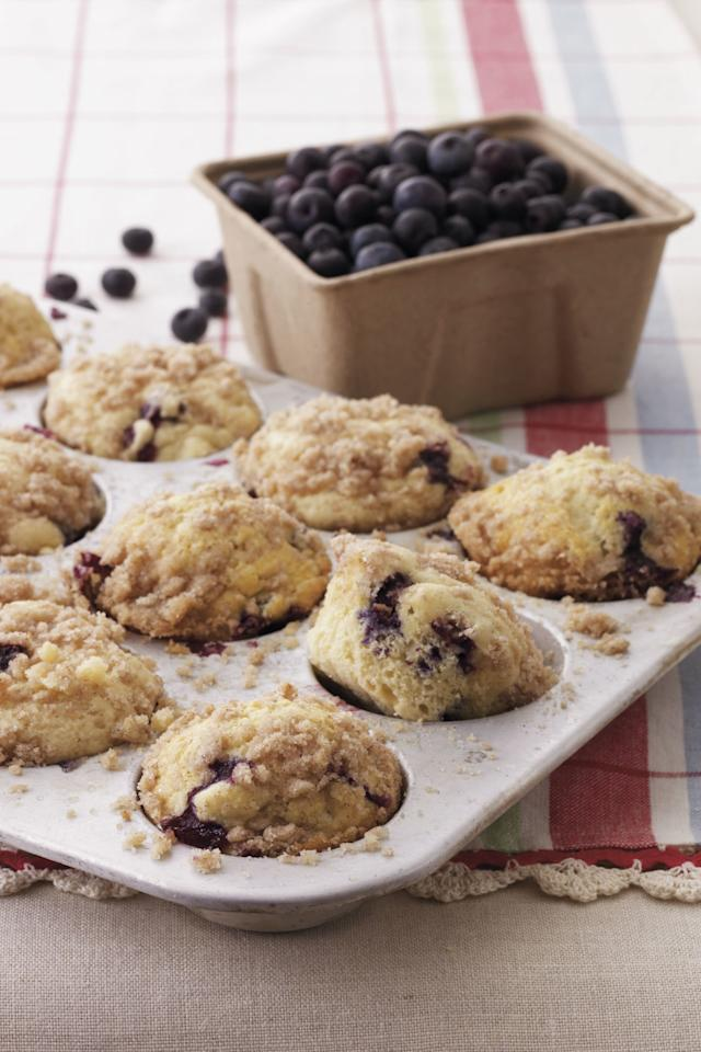 "<p><strong>Recipe: <a href=""https://www.southernliving.com/recipes/blueberry-streusel-muffins"">Blueberry Streusel Muffins</a></strong></p> <p>These berry-filled muffins are topped with a mouth-watering crumbly streusel.</p>"