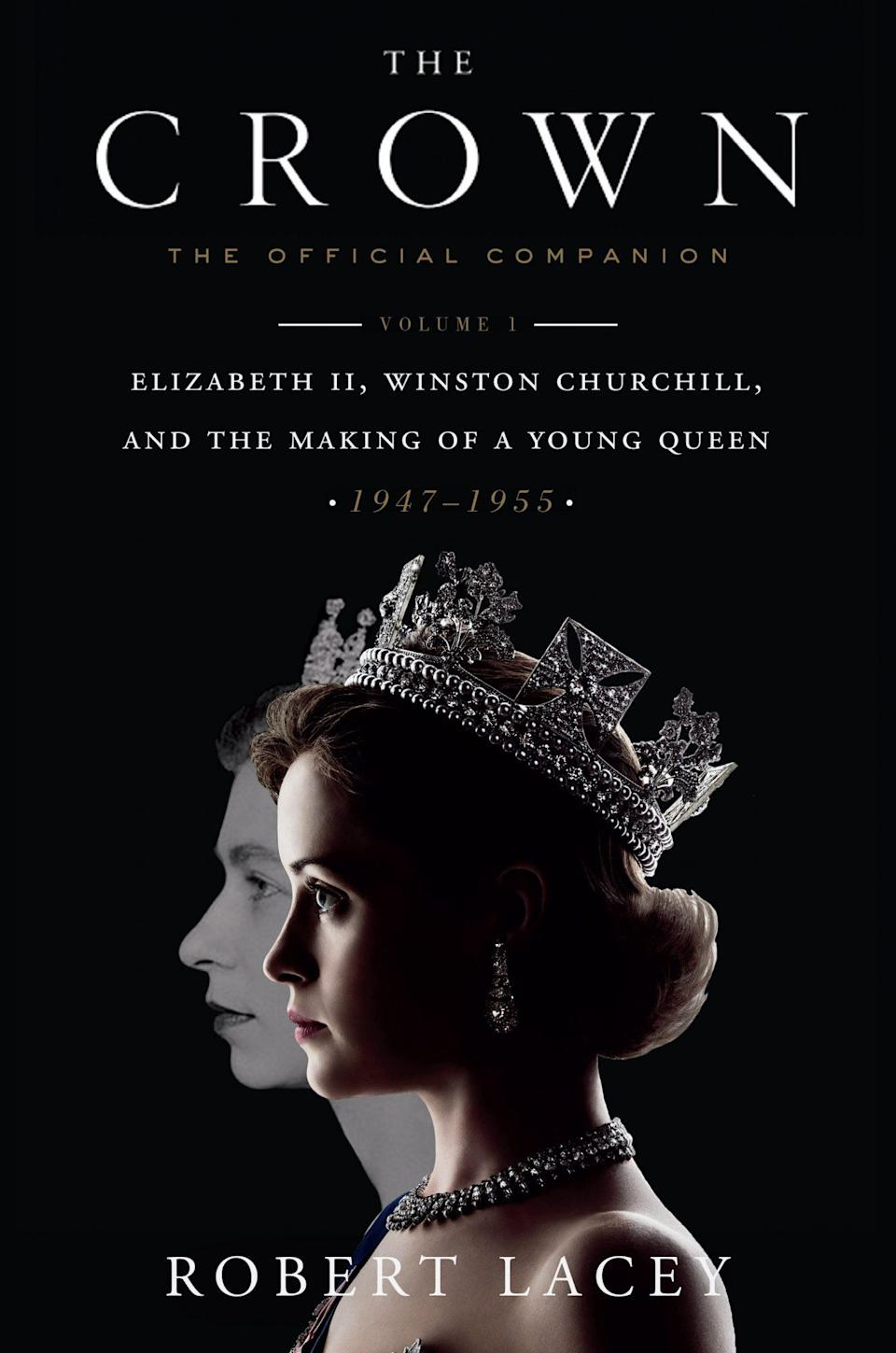 """<p>If your dad was addicted to <em>The Crown</em>, he'll need the companion book written by Robert Lacey, who served as a historical consultant for the series.</p> <p><strong><em>The Crown: The Official Companion</em> Volume 1, <a href=""""https://www.amazon.com/Crown-Companion-Elizabeth-Churchill-1947-1955/dp/1524762288/ref=sr_1_19"""" rel=""""sponsored noopener"""" target=""""_blank"""" data-ylk=""""slk:$16"""" class=""""link rapid-noclick-resp"""">$16</a></strong></p>"""