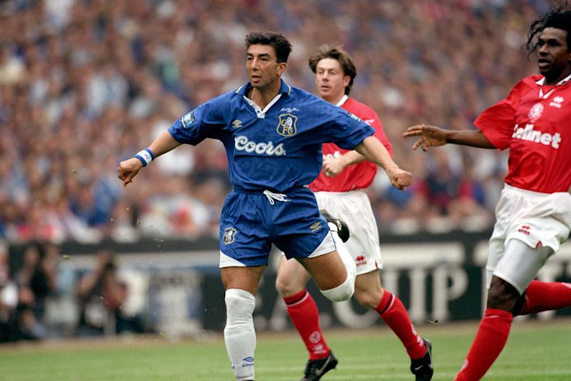 Chelsea's Roberto di Matteo scores what was the fastest ever FA Cup Final goal (Photo by Neal Simpson/EMPICS via Getty Images)