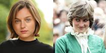 """<p>As the show moves into the later years of Queen Elizabeth's life, new royal drama will play out—such as the much-examined relationship between Elizabeth's son Prince Charles and Princess Diana. Lady Di will appearance on <em>The Crown </em>in season 4, and Netflix cast newcomer Emma Corrin in the role. Emma <a href=""""https://www.eonline.com/au/news/1031025/the-crown-finds-its-princess-diana-in-emma-corrin"""" rel=""""nofollow noopener"""" target=""""_blank"""" data-ylk=""""slk:said"""" class=""""link rapid-noclick-resp"""">said</a> of the part, """"Princess Diana was an icon and her effect on the world remains profound and inspiring. To explore her through Peter Morgan's writing is the most exceptional opportunity and I will strive to do her justice.""""</p>"""