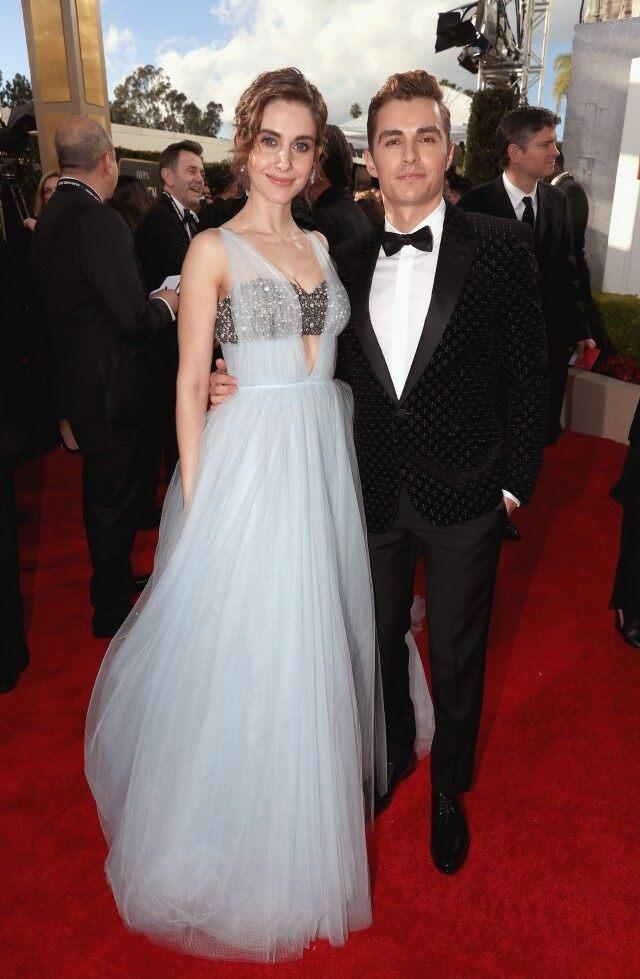 Alison Brie and Dave Franco at 2019 golden globes