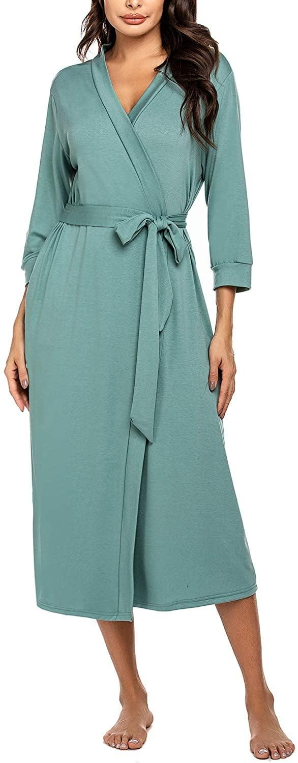 <p>Tell her to take some me time with this ultra-soft <span>MaxModa Soft Knit Long Bathrobe</span> ($32).</p>