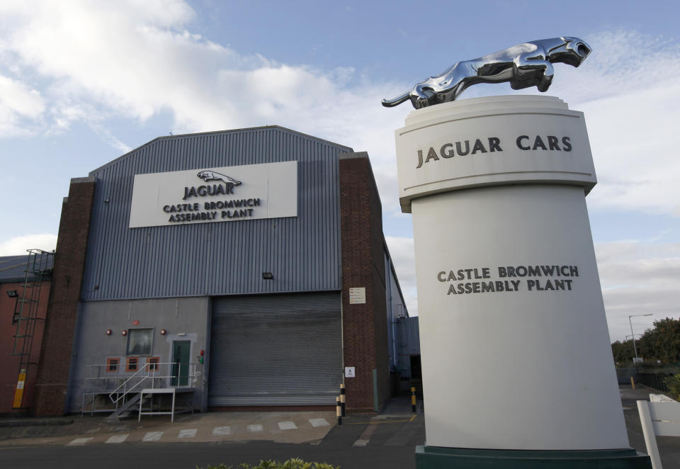 Jaguar Land Rover's assembly plant in Castle Bromwich, Birmingham, England, will be shut down temporarily. Photo: Eddie Keogh/Reuters