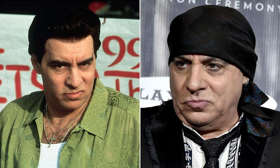Steve Van Zandt's role as the deadly mob consigliere was his acting debut.