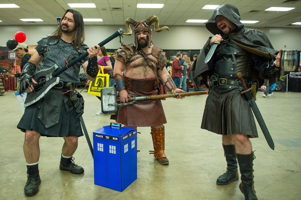 ST LOUIS, MISSOURI - APRIL 02: Attendees participate in cosplay during the Wizard World St. Louis Comic Con at America's Center on April 2, 2016 in St Louis, Missouri. (Photo by Michael B. Thomas/Getty Images)