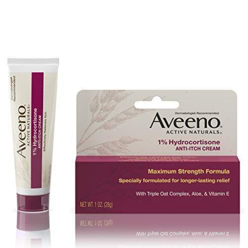"""<p><strong>Aveeno</strong></p><p>amazon.com</p><p><a href=""""https://www.amazon.com/dp/B012X33HMY?tag=syn-yahoo-20&ascsubtag=%5Bartid%7C2140.g.36743167%5Bsrc%7Cyahoo-us"""" rel=""""nofollow noopener"""" target=""""_blank"""" data-ylk=""""slk:Shop Now"""" class=""""link rapid-noclick-resp"""">Shop Now</a></p><p>With 1% hydrocortisone, this cream will stop itch. You'll also get the added bonus ingredient of triple oat complex to relieve the dryness and irritation that can come with scratchy skin.</p>"""