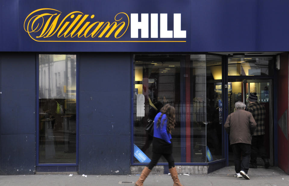 LONDON, UNITED KINGDOM - NOVEMBER 28: A general view of a William Hill betting shop in Camden Town on November 28, 2015 in London, England. (Photo by John Keeble/Getty Images)