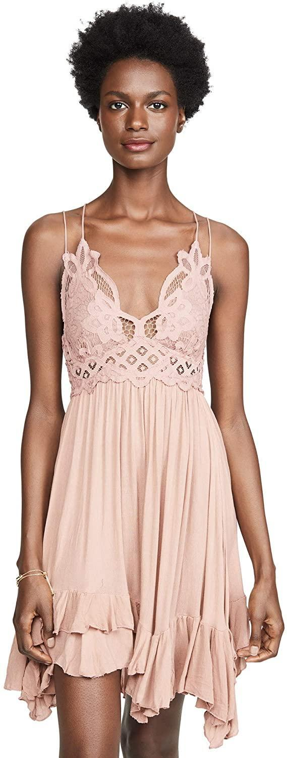 "<br><br><strong>Free People</strong> Adella Slip Dress, $, available at <a href=""https://www.amazon.com/Free-People-Womens-Adella-Dress/dp/B07K4K29SC/ref=sr_1_3?th=1&psc=1"" rel=""nofollow noopener"" target=""_blank"" data-ylk=""slk:Amazon"" class=""link rapid-noclick-resp"">Amazon</a>"