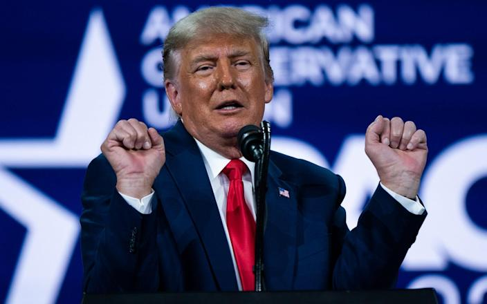 Donald Trump rejected the idea of starting a third political party - Elijah Nouvelage/Bloomberg
