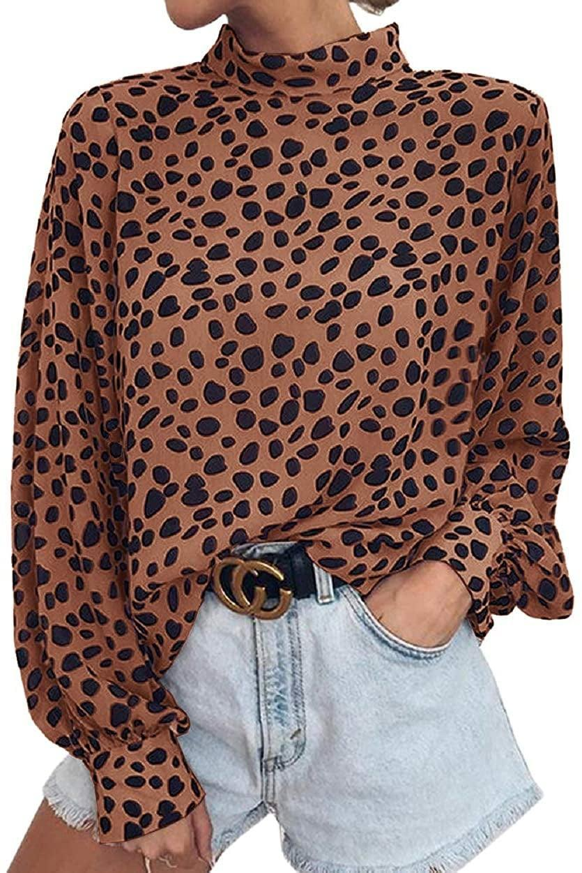 <p>If you love a little leopard print, get the <span>Valphsio Long-Sleeved Blouse</span> ($16-$26).</p>