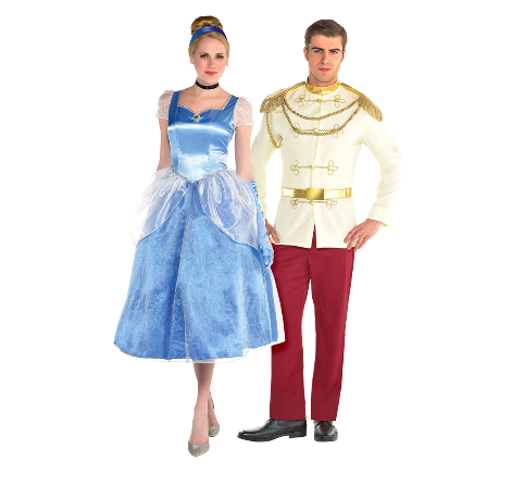 """<p>For Halloween, you can either buy your own Cinderella costume or you can wear your wedding dress (if it's as big and puffy as Cinderella's) for the night. </p><p><a class=""""link rapid-noclick-resp"""" href=""""https://www.partycity.com/adult-cinderella-and-prince-charming-couples-costumes---cinderella-G789280.html?cgid=couples-costumes-disney"""" rel=""""nofollow noopener"""" target=""""_blank"""" data-ylk=""""slk:SHOP CINDERELLA COSTUME"""">SHOP CINDERELLA COSTUME</a></p><p><a class=""""link rapid-noclick-resp"""" href=""""https://www.partycity.com/adult-cinderella-and-prince-charming-couples-costumes-plus-size---cinderella-G789284.html"""" rel=""""nofollow noopener"""" target=""""_blank"""" data-ylk=""""slk:SHOP PRINCE CHARMING COSTUME"""">SHOP PRINCE CHARMING COSTUME</a> </p>"""