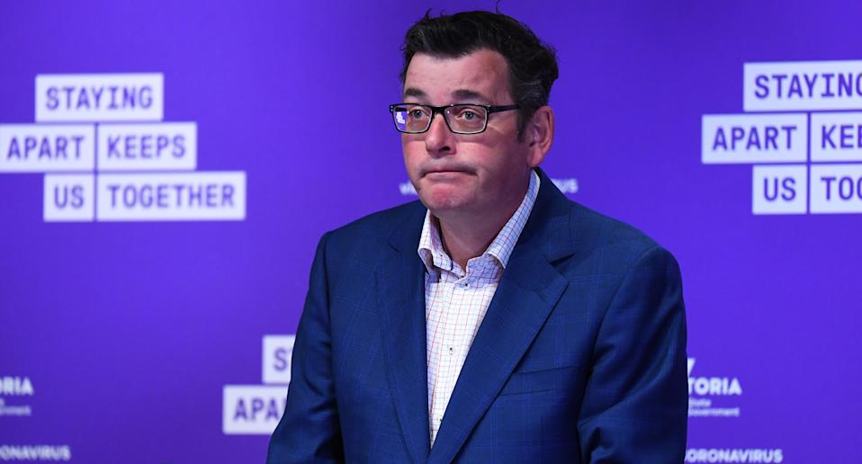 Pictured is Victorian Premier Daniel Andrews.