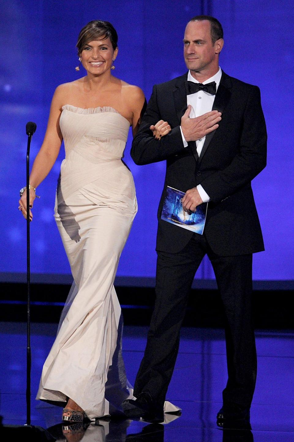 <p>In 2010, the pair looked gorgeous while presenting at 62nd Annual Primetime Emmy Awards. Hargitay has been nominated eight times, winning once in 2006. Meloni earned himself a nod in 2006 for outstanding lead actor in a drama series. </p>