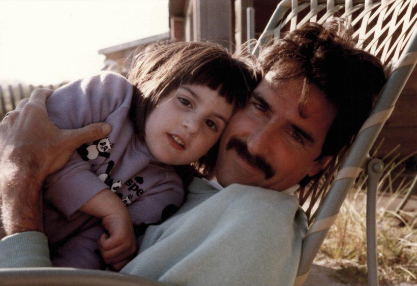 Ry Russo-Young as a child with her biological father, Tom Steel - Credit: HBO