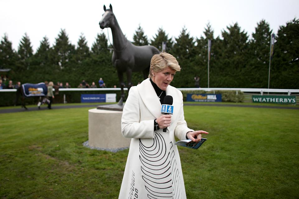 Channel Four Racing presenter Clare Balding