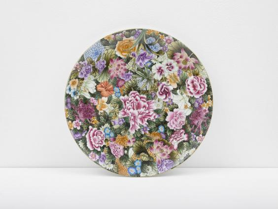 Auction: Ai Weiwei's Small Plate with Flowers, 2014, is among campaign auction lots (copyright: Ai Weiwei; courtesy of Lisson Galley)