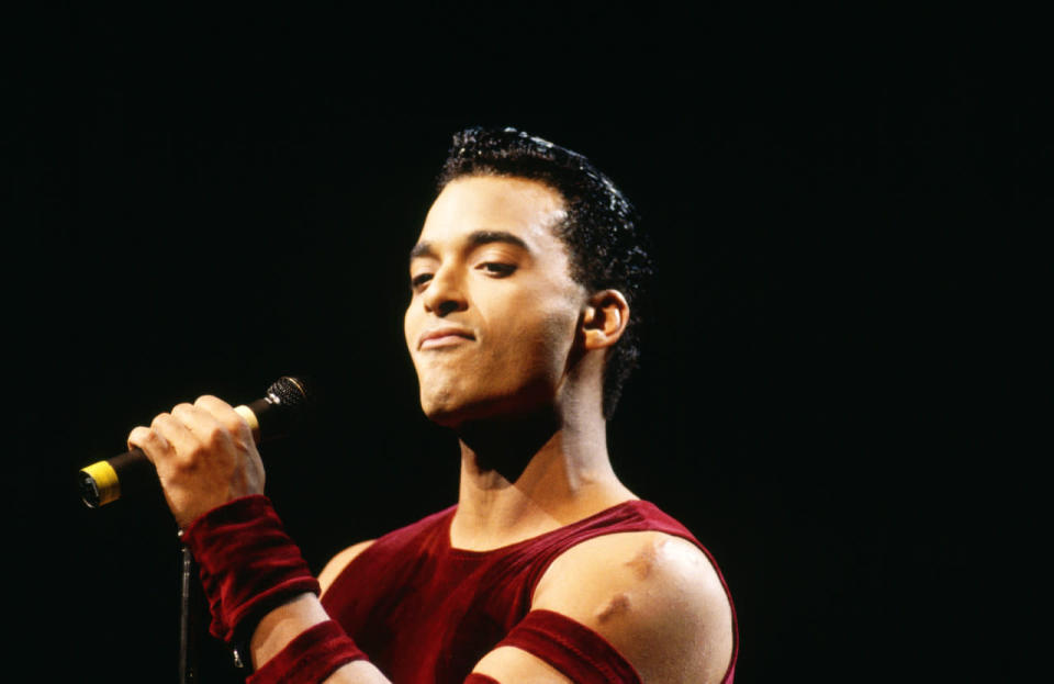 """<p>The crooner, who was born in Havana and raised in Hialeah, Fla., has had two top 10 hits: """"Just Another Day"""" and """"If You Go."""" (Gloria Estefan sang background vocals on """"Just Another Day."""" Secada later returned the favor, singing background vocals on Estefan's """"Coming Out Of The Dark""""). (Photo: David Redfern/Redferns)</p>"""