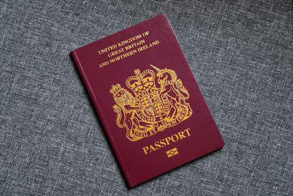 A British National (Overseas) passport. Photo: Fung Chang