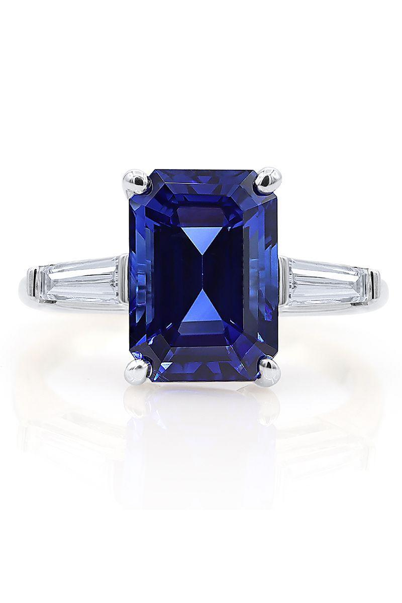 "<p><strong><em>Oscar Heyman</em></strong><em> Platinum Emerald Cut Sapphire and Diamond Ring, price upon request, <a href=""https://www.oscarheyman.com/fine-jewelry/"" rel=""nofollow noopener"" target=""_blank"" data-ylk=""slk:oscarheyman.com"" class=""link rapid-noclick-resp"">oscarheyman.com</a></em></p><p><a class=""link rapid-noclick-resp"" href=""https://www.oscarheyman.com/fine-jewelry/"" rel=""nofollow noopener"" target=""_blank"" data-ylk=""slk:SHOP"">SHOP</a></p>"