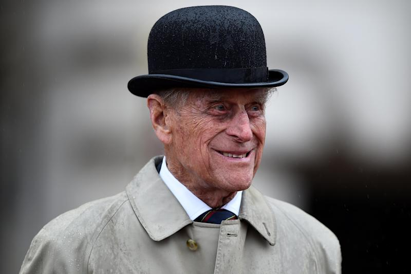 The Duke of Edinburgh attends the Captain General's Parade at his final individual public engagement, at Buckingham Palace in London.