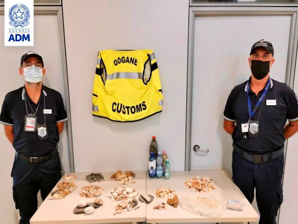 Some of the sand and shells confiscated by authorities. Source: Newsflash/ Australscope