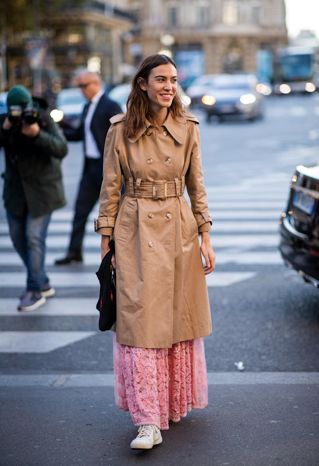 """There are few toppers as iconic as the trench coat. No matter what you're wearing, a trench coat will either make you look incredibly British like Alexa Chung or basically royal like <a href=""""https://www.glamour.com/gallery/meghan-markle-best-fall-outfits-get-her-look?mbid=synd_yahoo_rss"""">Meghan Markle</a>, both of which are things we could live with."""