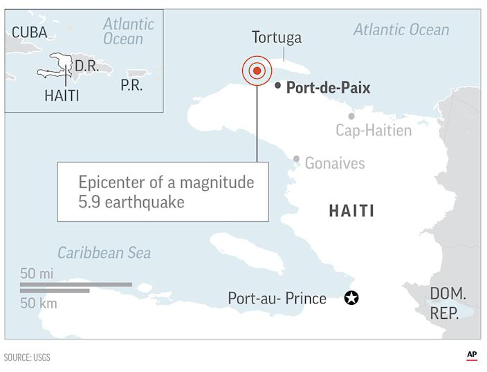 <p> The government reported seven deaths in the Nord-Ouest province and four other deaths in the community of Gros-Morne in the province of Artibonite. </p>