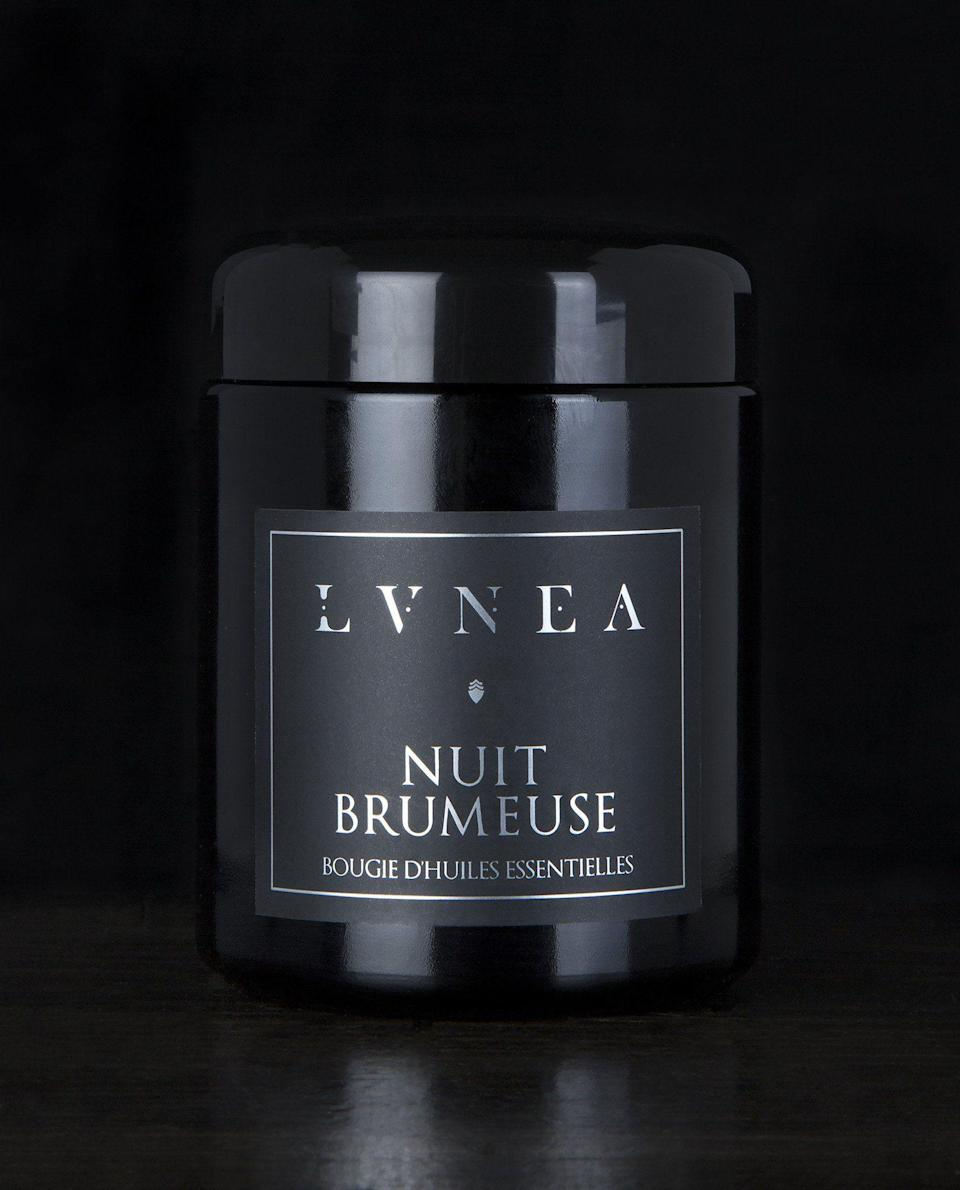 """<p><strong>Lvnea</strong></p><p>lvnea.com</p><p><strong>$42.00</strong></p><p><a href=""""https://www.lvnea.com/collections/candles-room-sprays/products/nuit-brumeuse-essential-oil-candle"""" rel=""""nofollow noopener"""" target=""""_blank"""" data-ylk=""""slk:BUY NOW"""" class=""""link rapid-noclick-resp"""">BUY NOW</a></p><p>""""All of LVNEA's products are handmade in natural perfumer April Lea's Montreal studio, so I can rest assured the scents will be captivating. She uses essential oils and floral waxes, and the moody, sophisticated packaging amps up the candles' allure. April also conveniently lists every ingredient on the website (each candle is made with natural soy wax!) so you know you're bringing healthy materials into your home. """"— <a href=""""https://urldefense.com/v3/__https://www.sarahtemplin.com/__;!!Ivohdkk!z-88b5ojYqHXC_Xzj1UGImAn0T0DlU_mvDUfYLAlVfKXpCs8k8LvuB-JdU7SCpf-4aR3ow$"""" rel=""""nofollow noopener"""" target=""""_blank"""" data-ylk=""""slk:Sarah Templin"""" class=""""link rapid-noclick-resp"""">Sarah Templin</a></p>"""