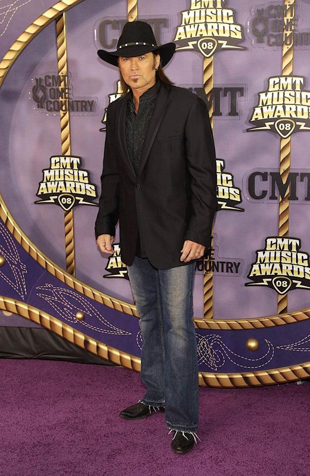 "Is Billy Ray Cyrus the new Man in Black? Stephen Lovekin/<a href=""http://www.gettyimages.com/"" target=""new"">GettyImages.com</a> - April 14, 2008"