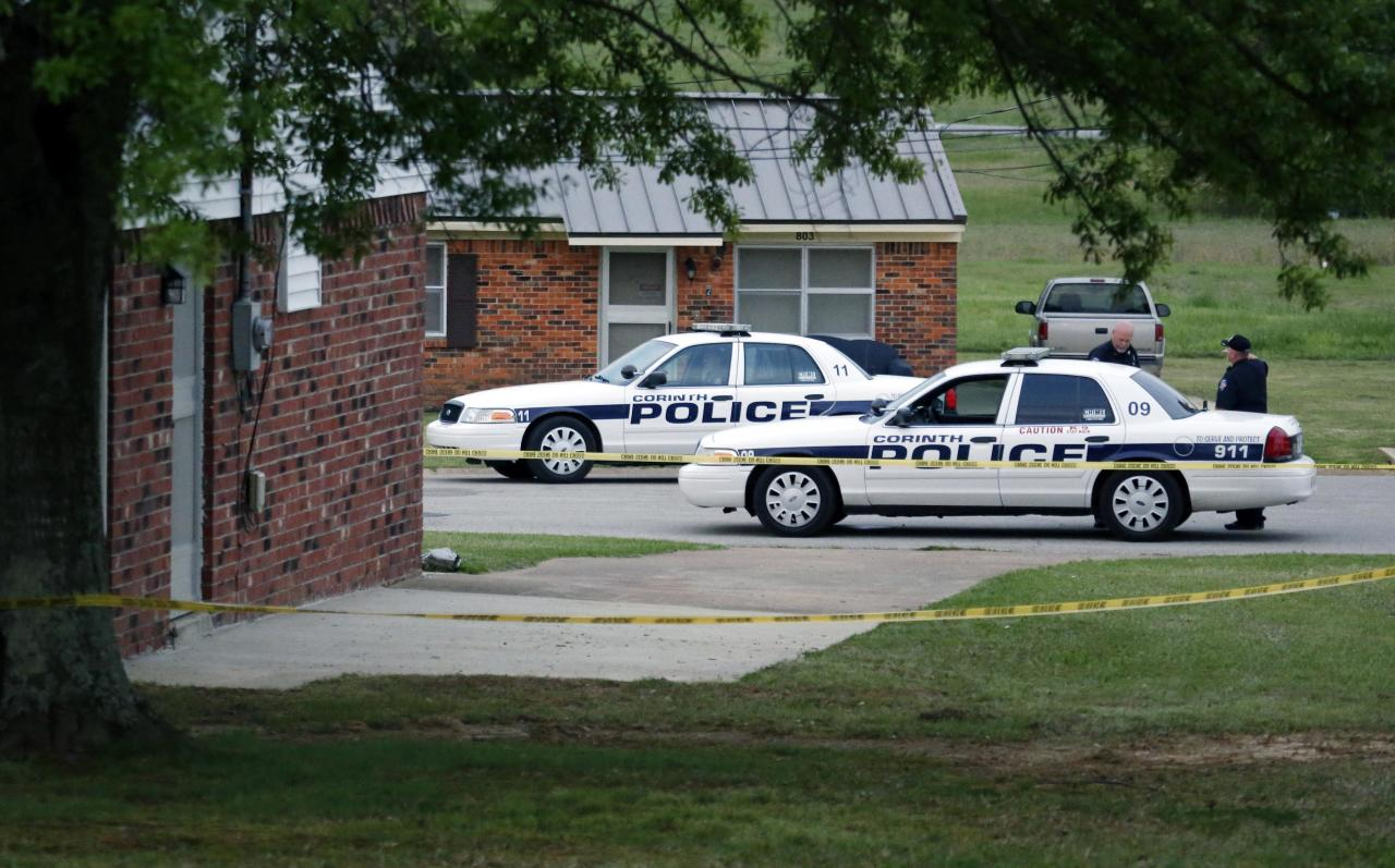 "A City of Corinth police car prevents access to a house in the West Hills Subdivision in Corinth, Miss. on Thursday morning, April 18, 2013. Law enforcement officials were blocking off the dwelling after taking Paul Kevin Curtis of Corinth, Mississippi into custody Wednesday under the suspicion of sending letters covered in ricin to U.S. President Barack Obama and Mississippi Sen. Roger Wicker (R-MS). Curtis was arrested at his home in Corinth, Mississippi, and is ""believed to be responsible for the mailings of the three letters sent through the U.S. Postal Inspection Service which contained a granular substance that preliminarily tested positive for ricin,"" the Justice Department said in a statement. (AP Photo/Rogelio V. Solis)"