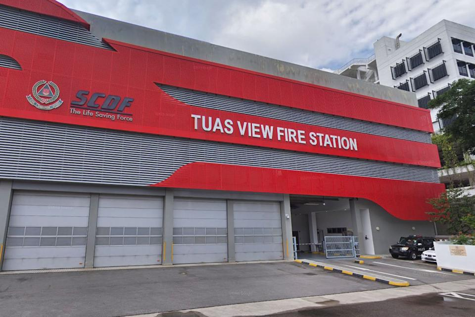 The Tuas View Fire Station where Corporal Kok Yuen Chin drowned.