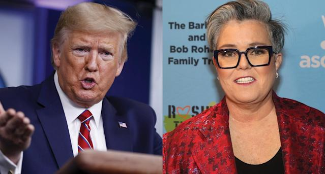 "Rosie O'Donnell grades President Trump's handling of coronavirus: ""I would give him a zero."" (Photo: Getty Images)"