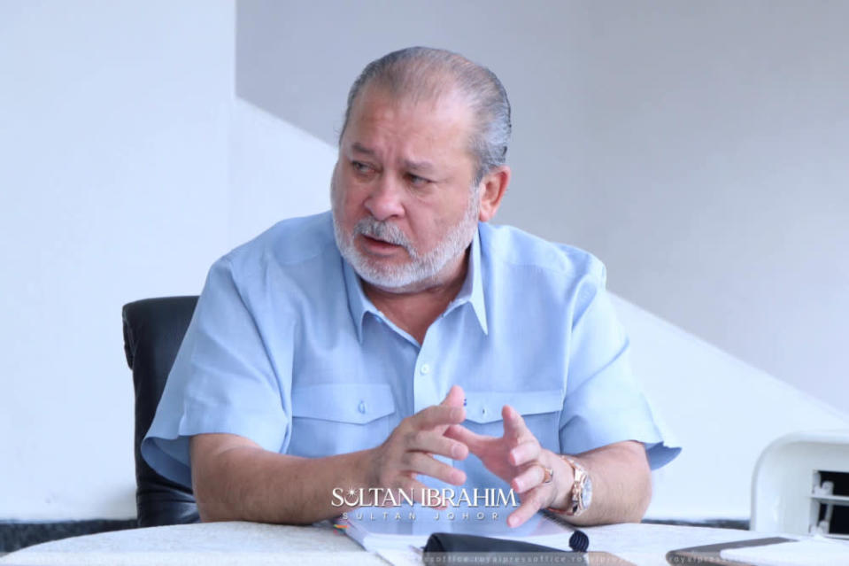 Sultan Ibrahim Sultan Iskandar questioned if Johor's sovereignty was not important to the federal government. — Picture from Facebook/Sultan