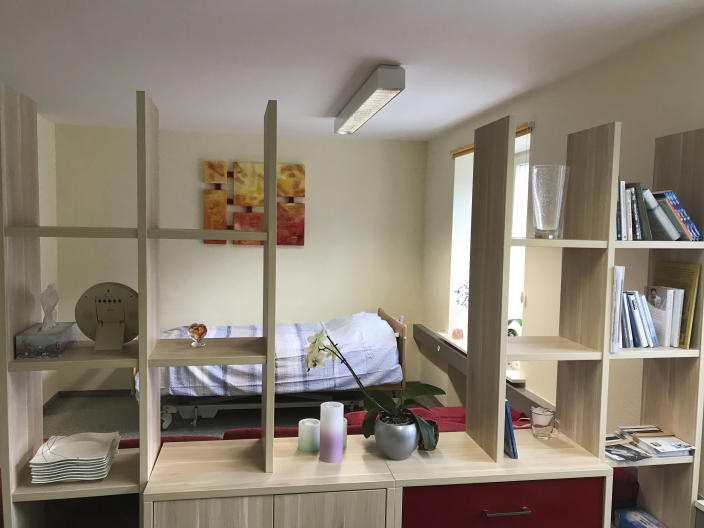 A room in the clinic at Liestal near Basel, Switzerland, where 104-year-old Australian scientist David Goodall ended his life (AP Photo/Philipp Jenne)