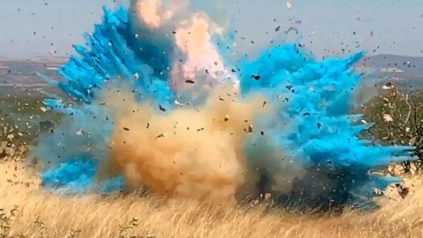 PHOTO: In this frame grab from a April 23, 2017, video provided by the U.S. Forest Service, is a gender reveal event in the Santa Rita Mountain's foothills, southeast of Tucson, Ariz. (U.S. Forest Service via AP, FILE)