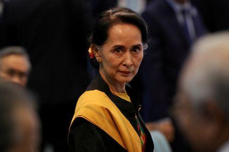 Myanmar State Counselor Aung San Suu Kyi attends the opening session of the 31st ASEAN Summit in Manila, Philippines, November 13, 2017. REUTERS/Athit Perawongmetha/Files