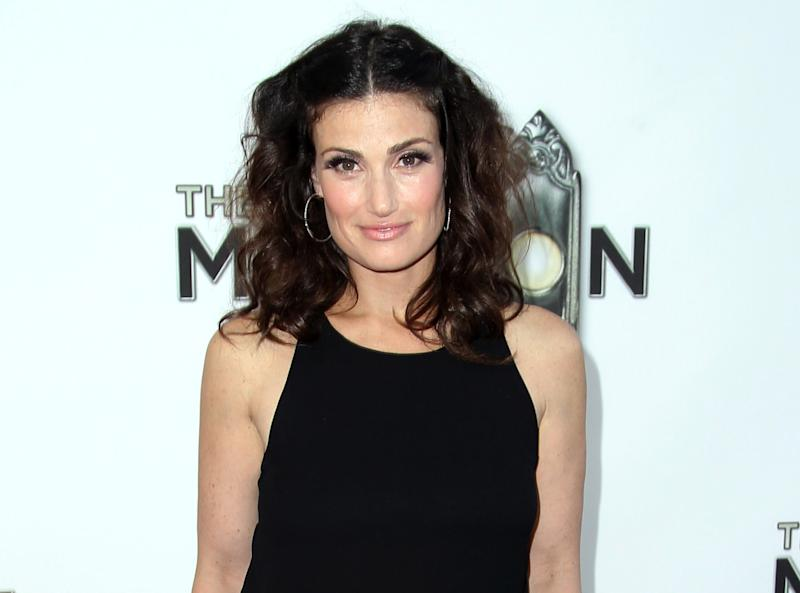 """FILE - This Sept. 12, 2012 file photo shows Idina Menzel at the West Coast premiere of """"The Book of Mormon"""" at the Pantages Theatre in Los Angeles. Menzel will return to Broadway since winning the Tony Award for """"Wicked"""" to star in """"If/Then,"""" an original Broadway musical. The production will begin previews on Broadway on March 4, 2014 and will officially open on March 27, 2014.  (Photo by Matt Sayles/Invision/AP, file)"""