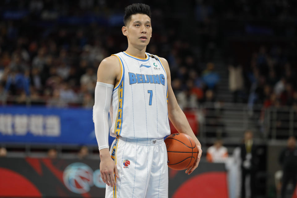 BEIJING, CHINA - DECEMBER 20: Jeremy Lin #7 of Beijing Ducks in action during 2019/2020 CBA League - Beijing Ducks v Zhejiang Golden Bulls at Beijing Wukesong Sport Arena on December 20, 2019 in Beijing, China. (Photo by Fred Lee/Getty Images)