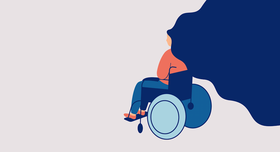 """<span class=""""attribution""""><a class=""""link rapid-noclick-resp"""" href=""""https://www.shutterstock.com/es/image-vector/sad-young-woman-sitting-wheelchair-isolated-1766088746"""" rel=""""nofollow noopener"""" target=""""_blank"""" data-ylk=""""slk:Shutterstock / Mary Long"""">Shutterstock / Mary Long</a></span>"""