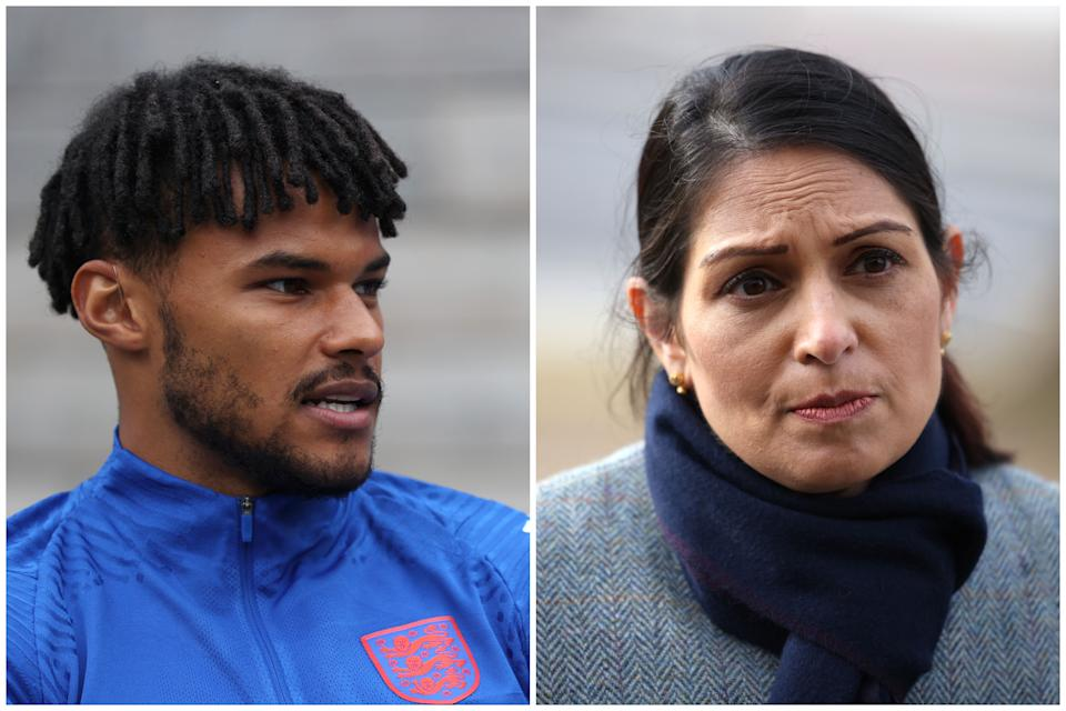 A Tory MP has said Tyrone Mings is 'completely right' in his criticism of Priti Patel. (Getty Images)
