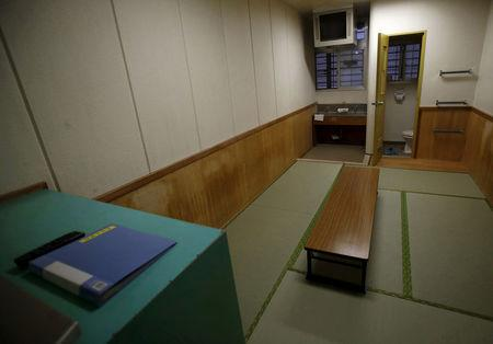 FILE PHOTO: An inside view of a shared cell is seen at the East Japan Immigration Center in Ushiku