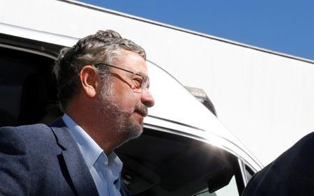 File photo: Palocci, former finance minister and presidential chief of staff in recent Workers Party governments, arrives at the Institute of Forensic Science in Curitiba