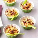 <p>This simplified version of bananas Foster uses instant vanilla pudding and caramel ice cream topping to give it its classic flavor without the fuss.</p>