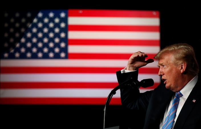 """Forty-four percent of voters said they think """"racist beliefs"""" were a motive in President Donald Trump's immigration policy. (Photo: Leah Millis/Reuters)"""