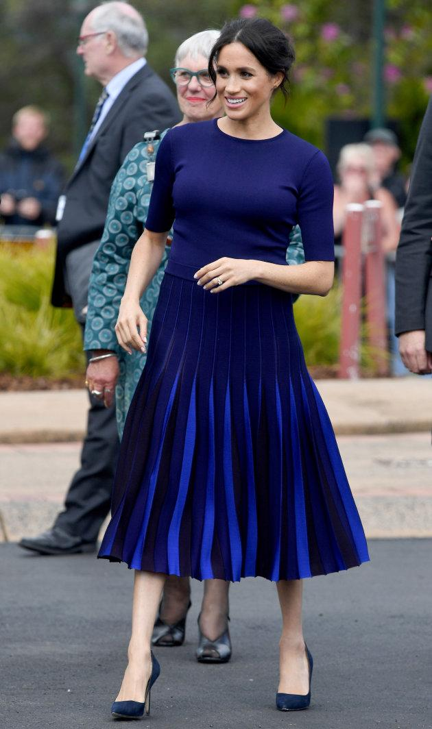 The Duchess of Sussex takes part in a walkabout on Oct. 31, 2018 in Rotorua, New Zealand.