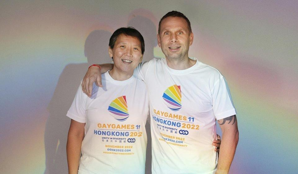 Gay Games co-chairs Lisa Lai and Dennis Philipse previously noted difficulties in securing public venues for sporting events. Photo: Gay Games Hong Kong