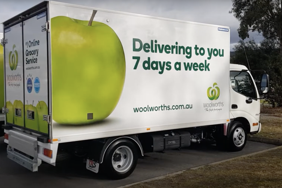 Woolworths delivery truck.