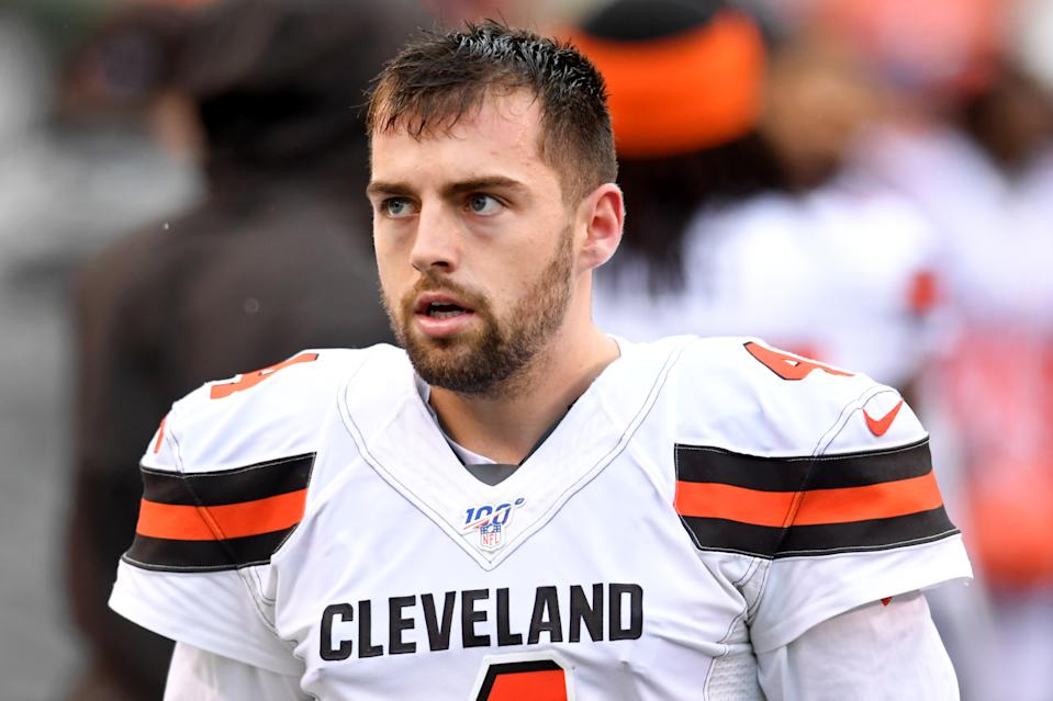 Kicker Austin Seibert is no longer with the Cleveland Browns after missing an extra point and a field goal against the Ravens on Sunday. (Photo by: 2019 Nick Cammett/Diamond Images via Getty Images)