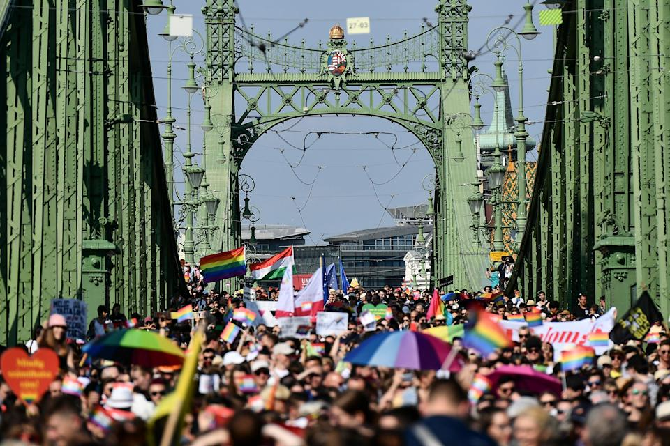 Hungary Gay Pride (Copyright 2021 The Associated Press. All rights reserved.)