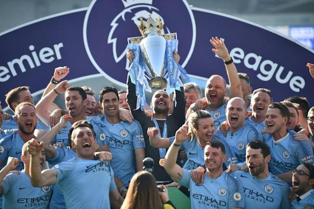 Manchester City have finished above Manchester United in the Premier League for the past six seasons (AFP Photo/Glyn KIRK )